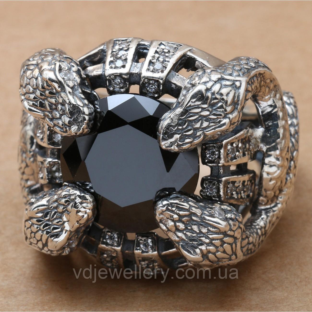 Мужское серебряное кольцо 1РД