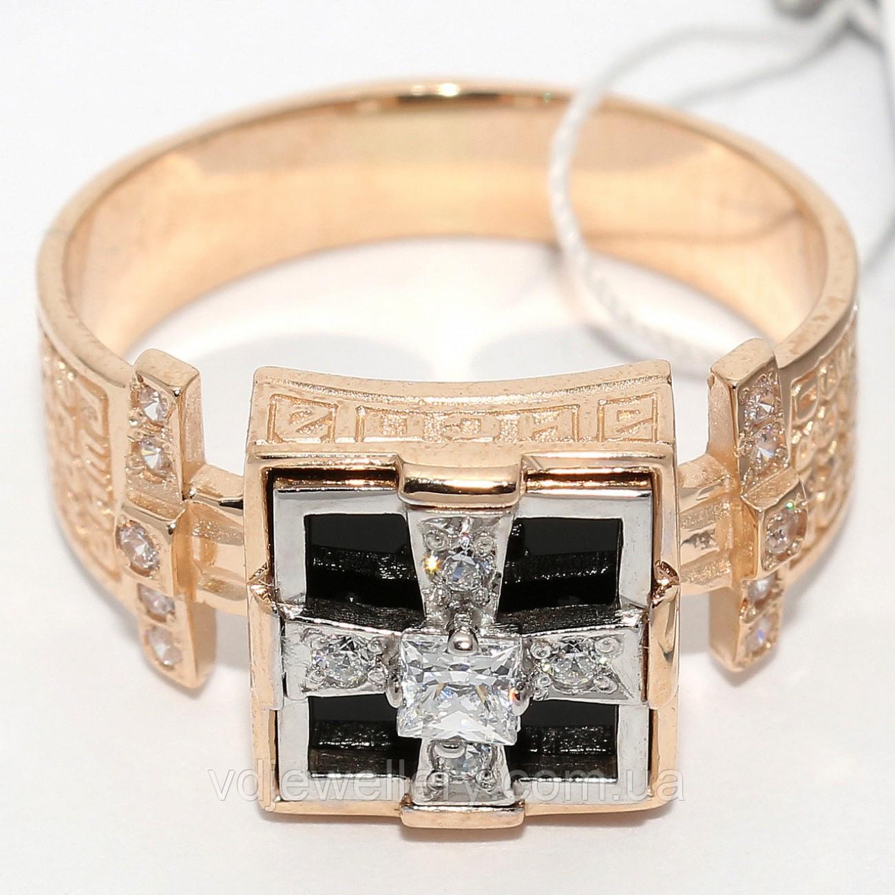 Мужское золотое кольцо КМХ-16