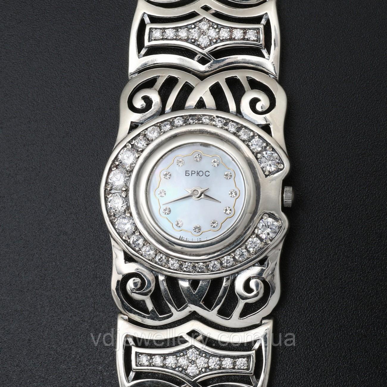 Женские серебряные часы 0520