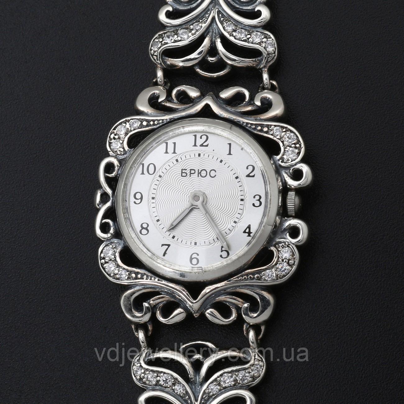 Женские серебряные часы 0519