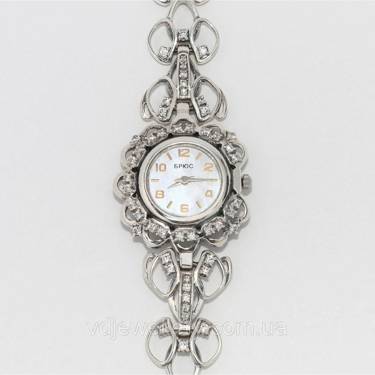 Женские серебряные часы 0543