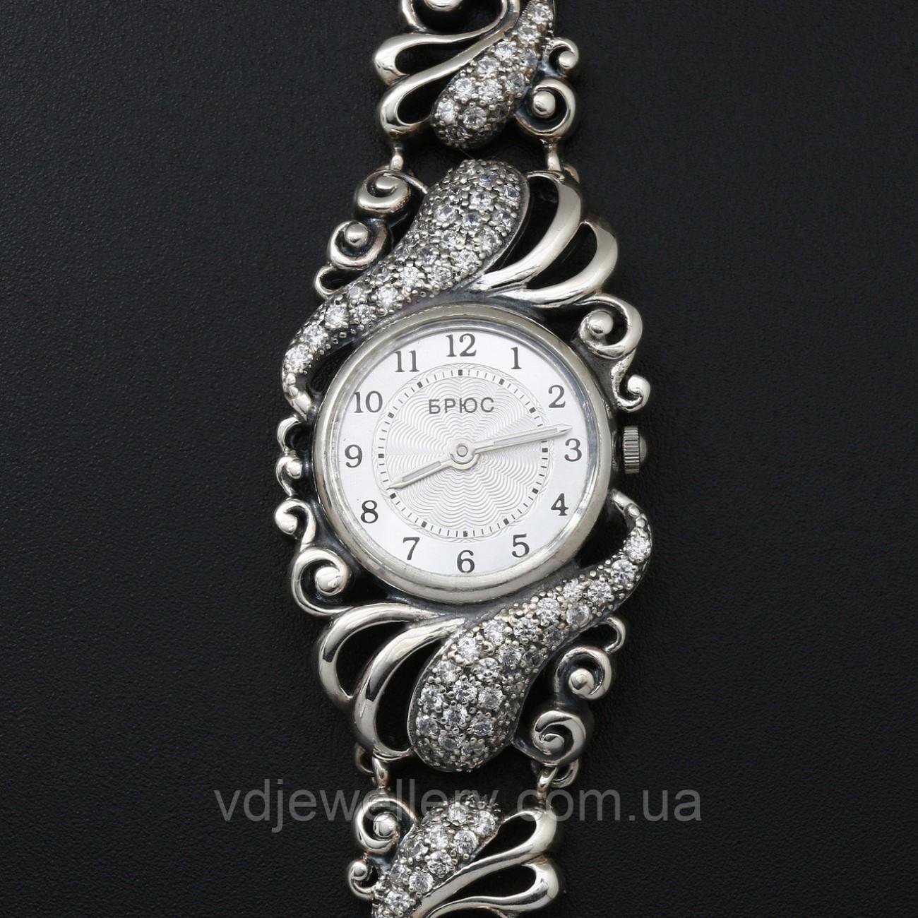 Женские серебряные часы 0529