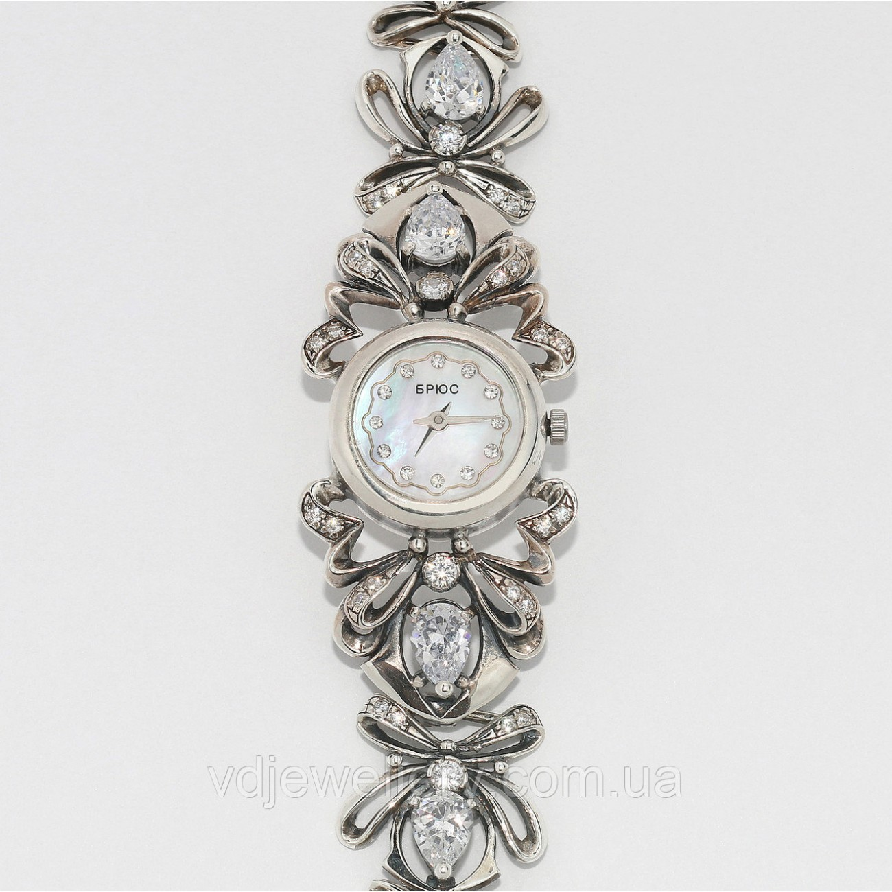 Женские серебряные часы 0542
