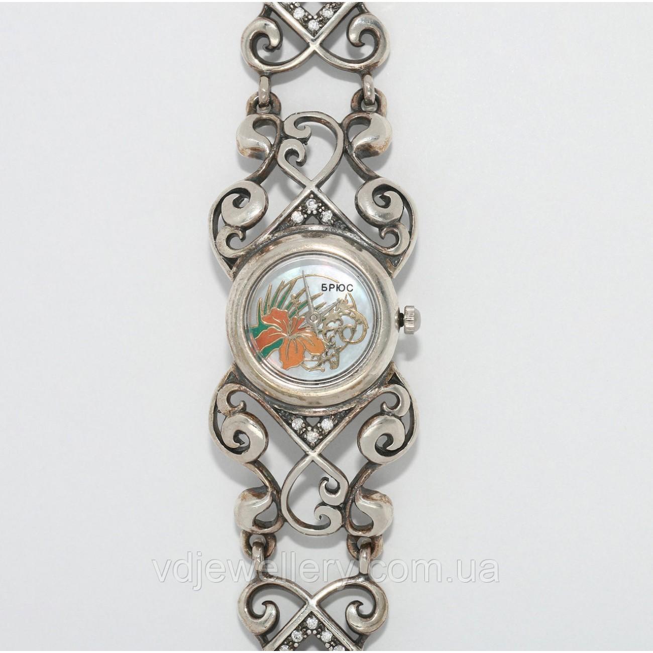 Женские серебряные часы 0537