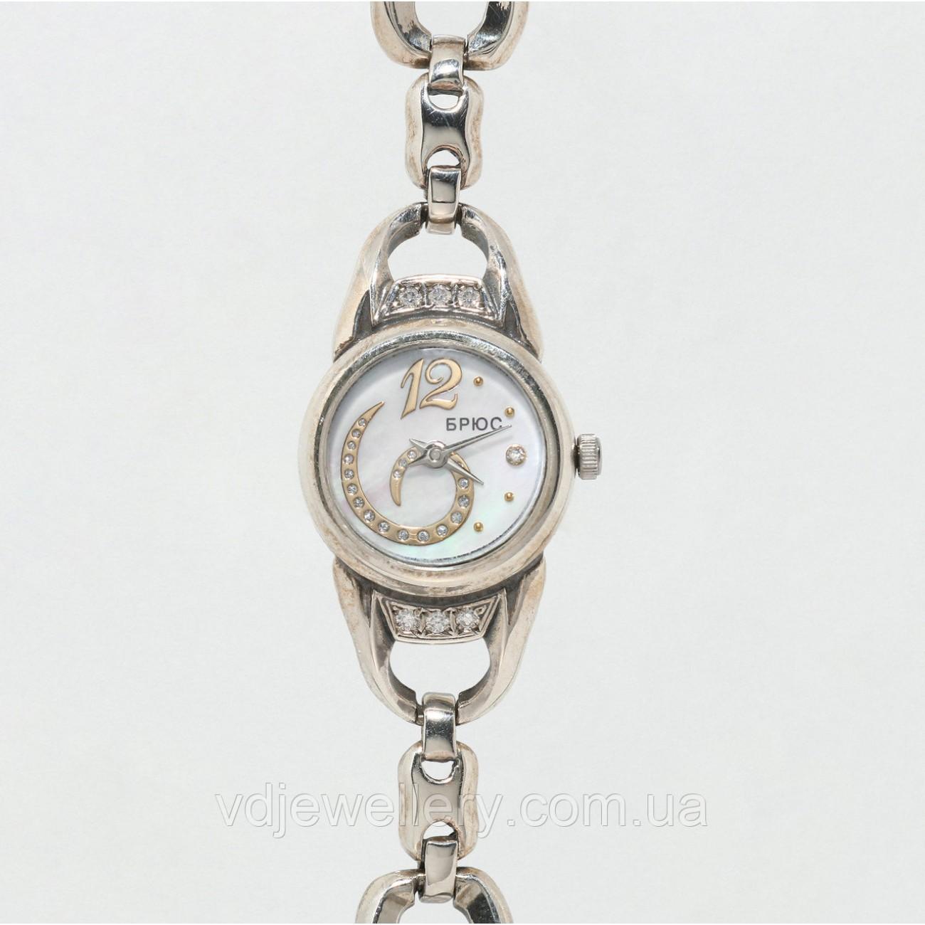 Женские серебряные часы 0536