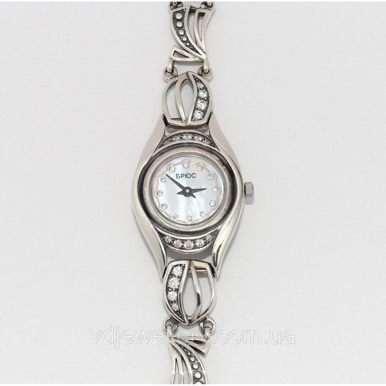 Женские серебряные часы 0540
