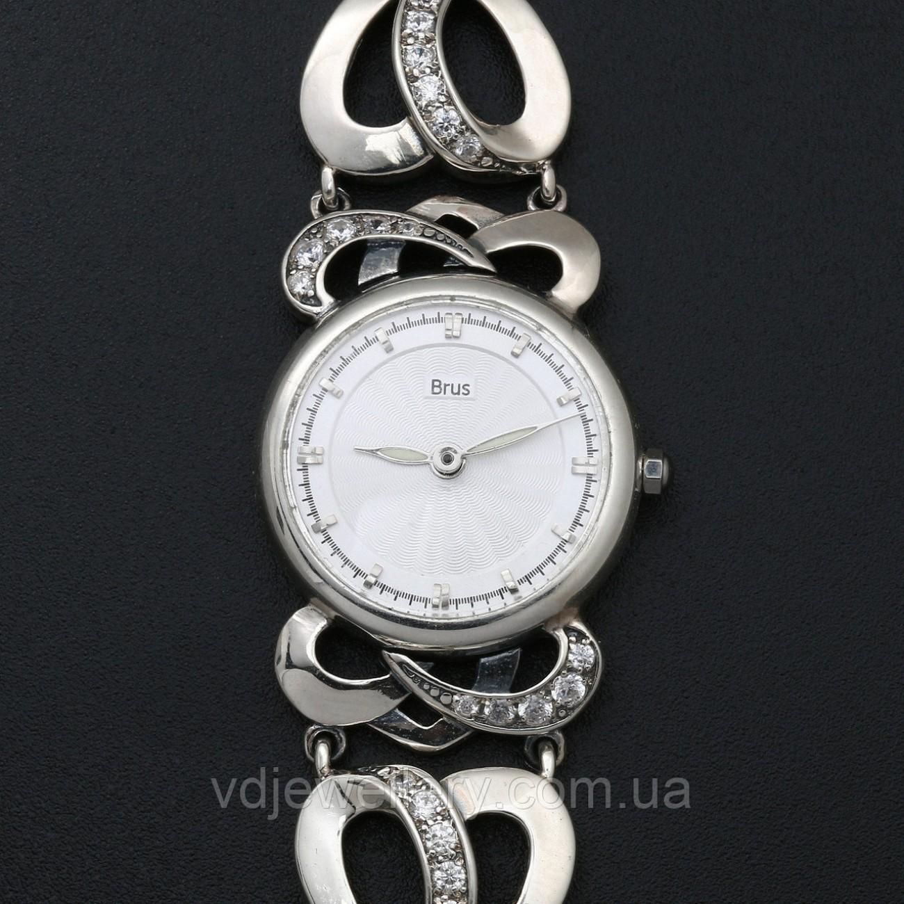 Женские серебряные часы 0526
