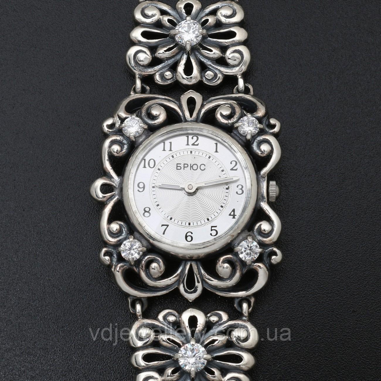 Женские серебряные часы 0524