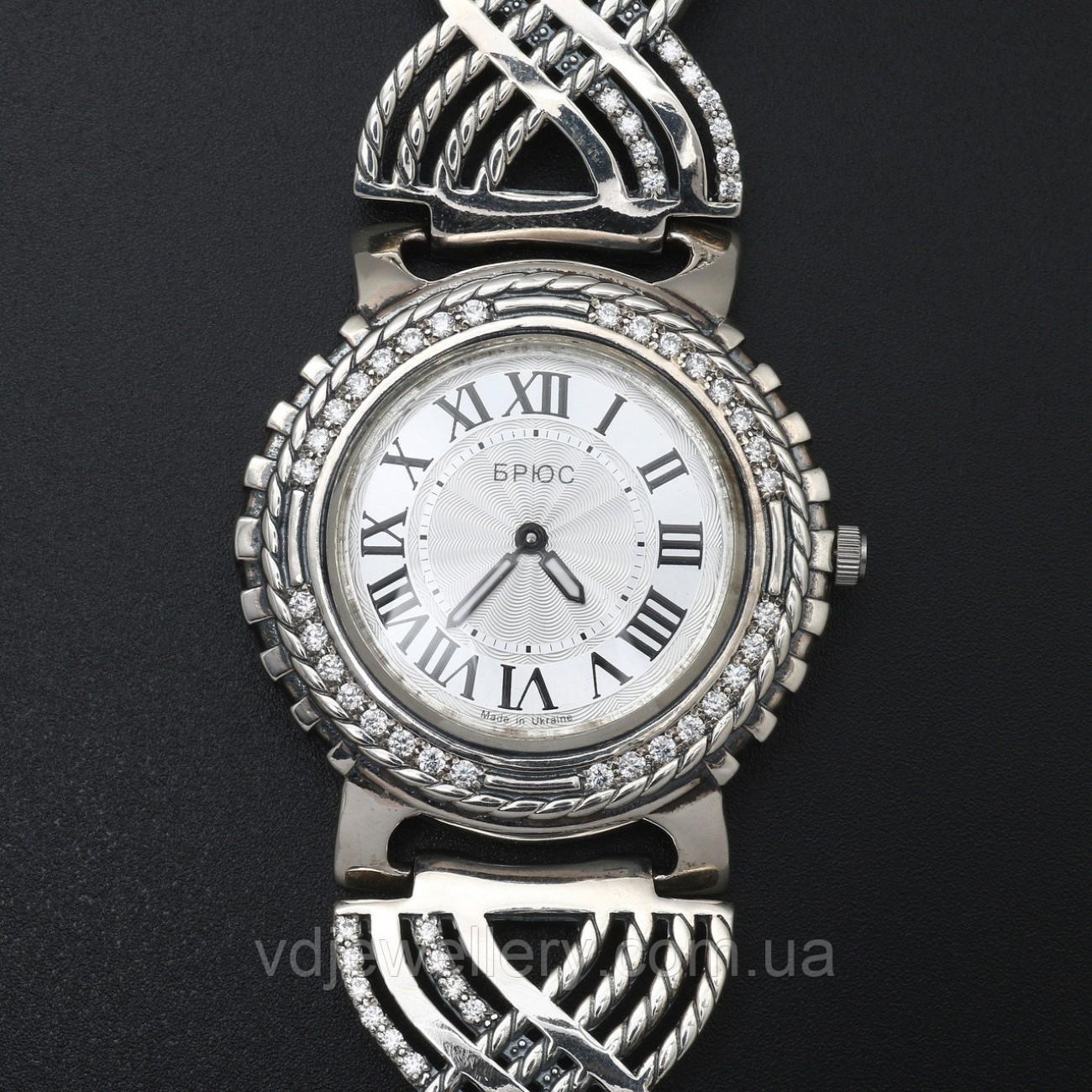 Женские серебряные часы 0521