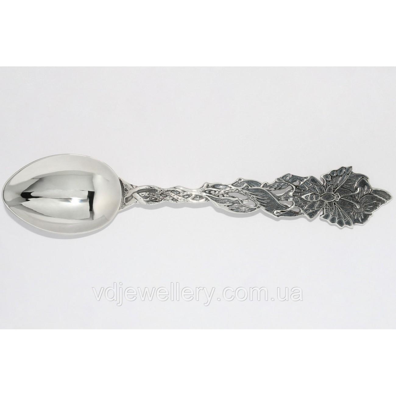 Десертная серебряная ложка 116ЛТ