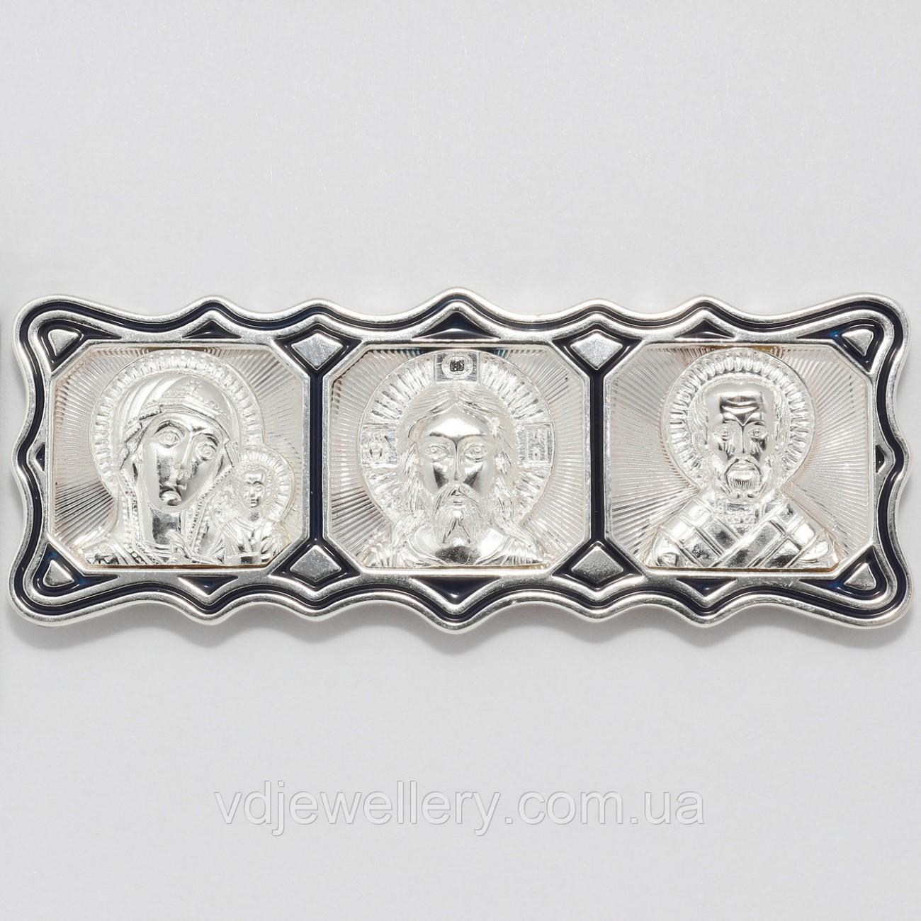 Серебряная дорожная икона ИХ-13
